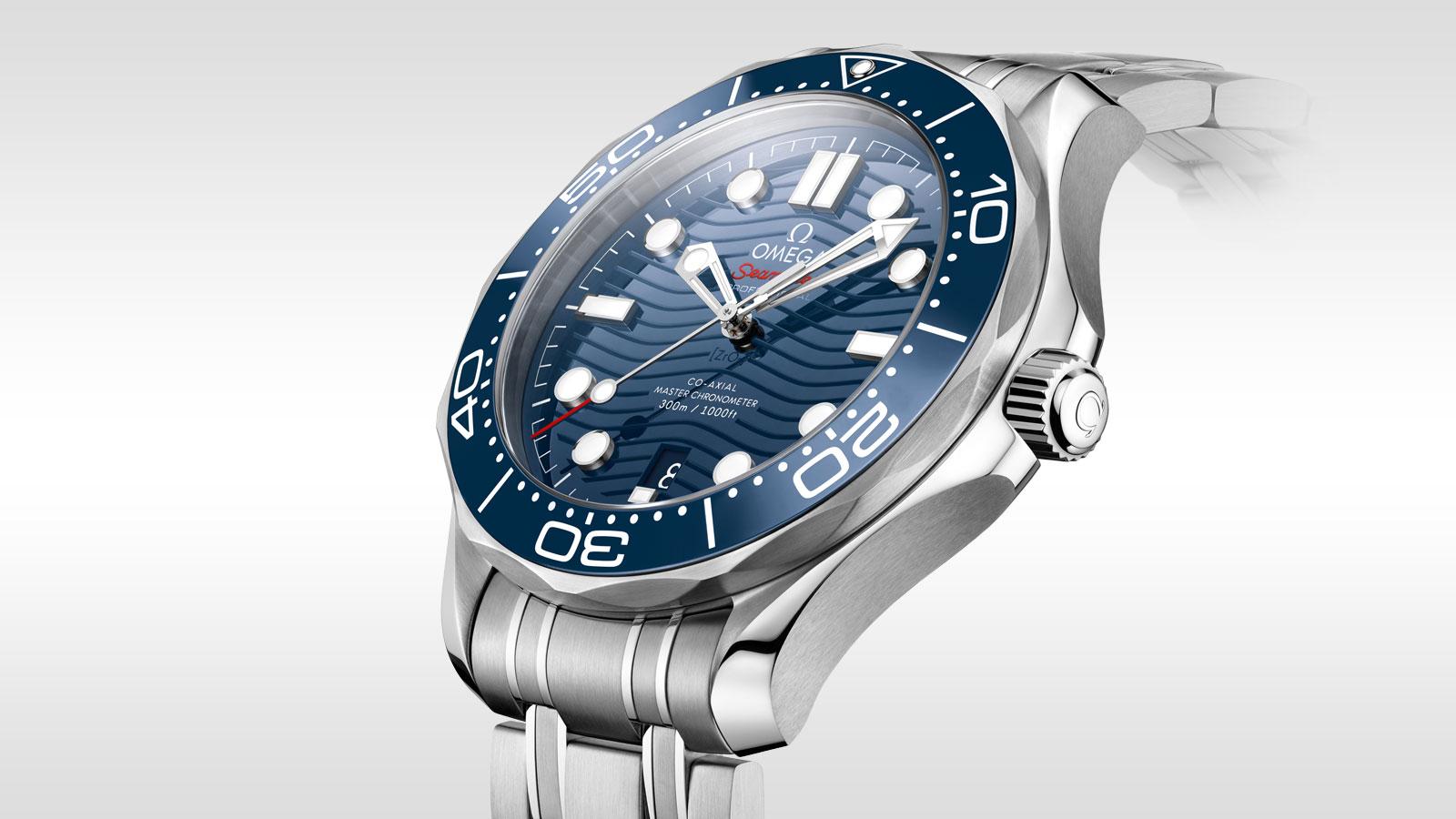 2019 Réplicas Relojes Clásico Omega Seamaster 300 Diver Professional Master Esfera Azul Cronómetro Automático Revisión