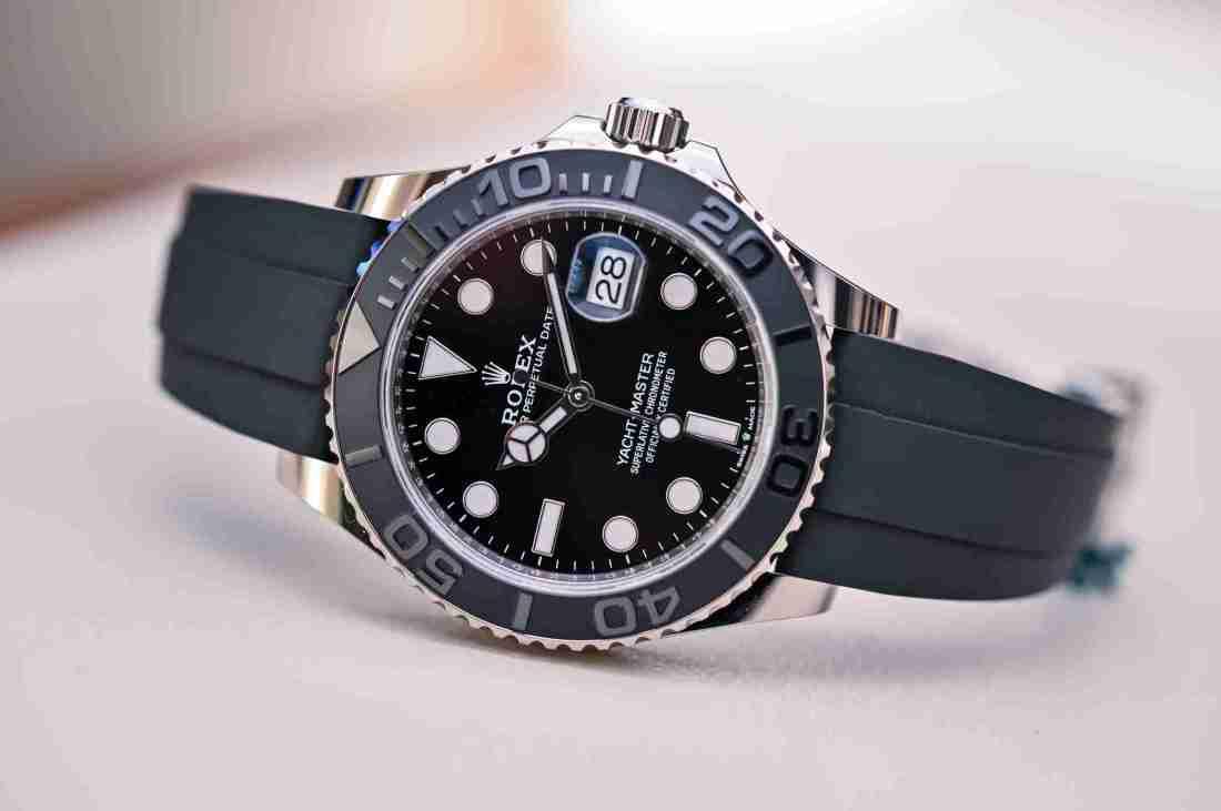 Replicas de relojes Rolex Yacht-Master 42 oro blanco 226659 recomendado para Viernes negro 1