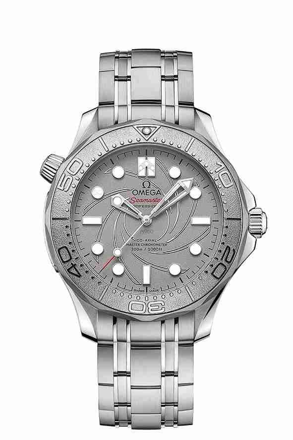 Réplicas de Relojes Omega Seamaster Professional 300M 007 Platino Edición especial para Navidad 2