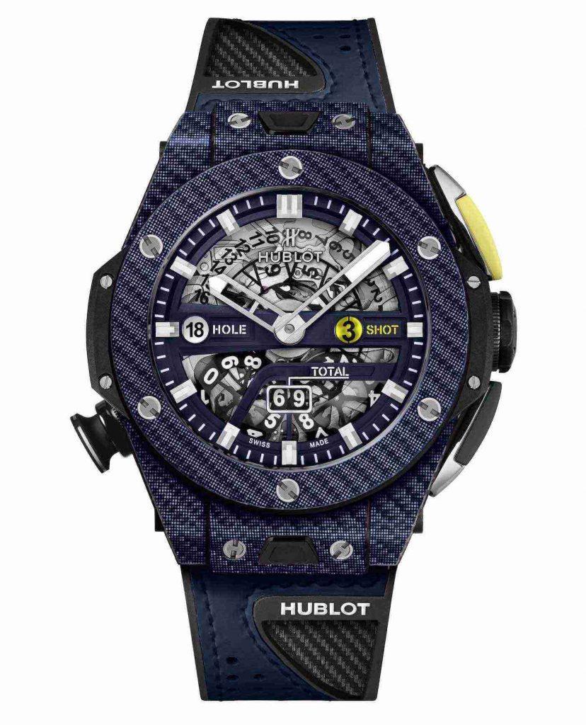 Réplicas de Relojes Hublot Big Bang Unico Golf MHUB1580 Carbon Azul 45mm AAA 3