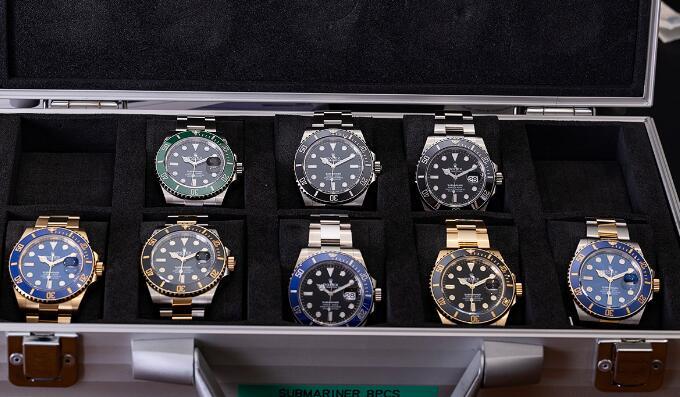 Presentamos el reloj réplica Rolex Submariner con esfera negra Oystersteel 41mm 124060 2