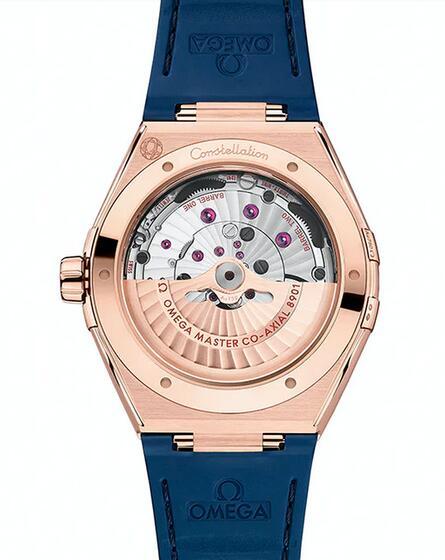 Presentamos el reloj réplica Omega Constellation Ceramic Steel de 18k en oro Sedna de 41mm 1